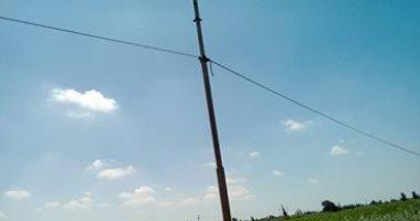 شكوى من سوء حالة أعمدة الكهرباء بقرية أبو ماضى مركز بلقاس فى الدقهلية