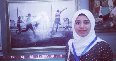 """أسماء تشارك """"صحافة المواطن"""" بموهبتها فى الرسم وتحلم بأكاديمية لتعليم الأطفال"""