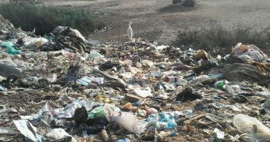"""صور..""""أبيج"""" بالغربية تعانى من الصرف المتهالك والبلاعات المكشوفة والقمامة"""