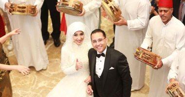 الليثى وبوسى يشعلان حفل زفاف زكى القاضى وداليا هشام بدار الحرس الجمهورى