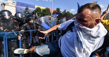 450 جريحا فى تظاهرة ضد الحكومة فى رومانيا