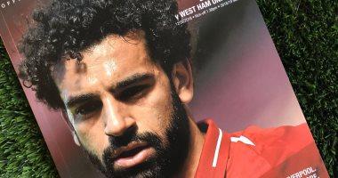 محمد صلاح يتصدر غلاف مجلة مباراة ليفربول ضد وست هام فى الدوري الانجليزي