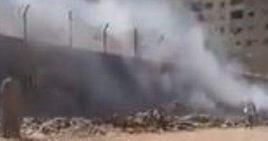 قارئ يشكو من انتشار القمامة وحرقه بشارع جسر السويس