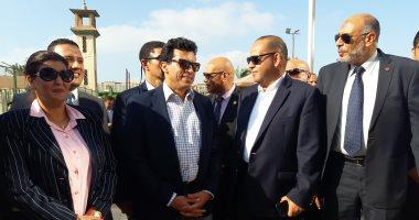 صور.. وزير الرياضة يتفقد نادى أصحاب الجياد شرق الإسكندرية