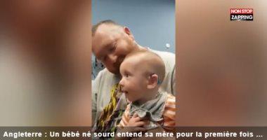 أم بريطانية تلتقط فيديو للحظات الأولى لشفاء طفلها من الصمم