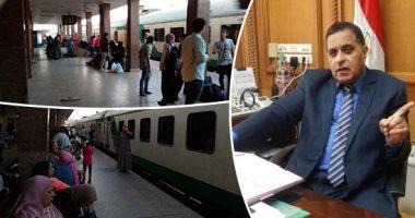 السكة الحديد تشغل 10 قطارات إضافية يوميًا خلال العيد بجانب جداول التشغيل العادية.. تشغيلها يبدأ من 28 مايو لـ 10 يونيو المقبل والحجز قبل السفر بـ24 ساعة.. وحجز 70% من المقاعد بمحطة القاهرة ولا زيادة بالأسعار