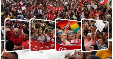 مظاهرات فى تونس للمطالبة بالمساواة بين الرجل والمرأة فى الميراث
