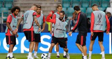 صور.. ريال مدريد يختتم تدريباته على ملعب السوبر الأوروبى قبل قمة أتلتيكو