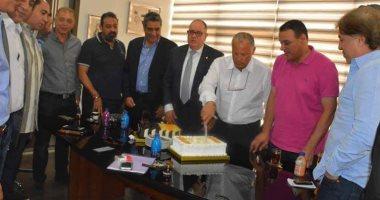 مجلس الجبلاية يحتفل بعيد ميلاد هانى أبو ريدة