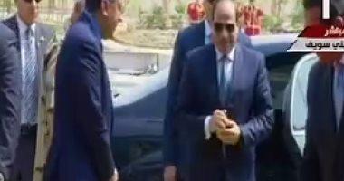 الرئيس السيسى يزيح الستار عن أكبر مجمع مصانع للأسمنت بالشرق الأوسط ببنى سويف