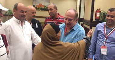 صور.. الرئيس التنفيذى لبعثة الحج يتفقد مقار إقامة الحجاج المصريين