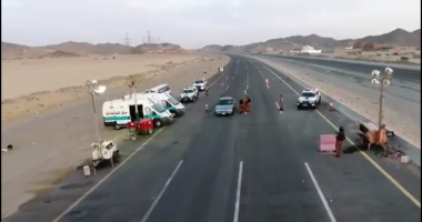 """أمن الطرق السعودى يحذر من رياح مثيرة للأتربة على طريق """"مكة – المدينة المنورة"""""""