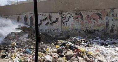 شكوى من حرق القمامة فى جسر السويس