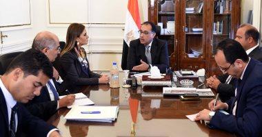 مصطفى مدبولى يلتقى وزيرة الاستثمار ورئيس البورصة