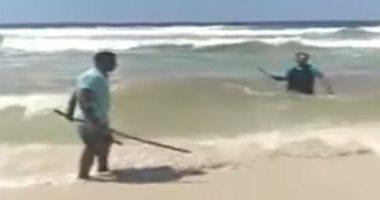 زوج شقيقة قتيل شاطئ الإسكندرية ينفي التشاجر  مع المتهم أو حدوث تحرش