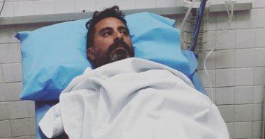 """صور.. هادى الباجورى يتعرض لوعكة صحية.. وياسمين رئيس: """"سلامتك يا حبيبى"""""""