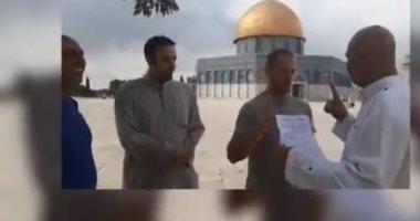 شاهد سائح إيطالى يعلن إسلامه فى ساحة المسجد الأقصى