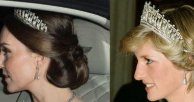 السلف مش عيب دوقة كامبريدج تستعير مجوهرات الأميرة ديانا