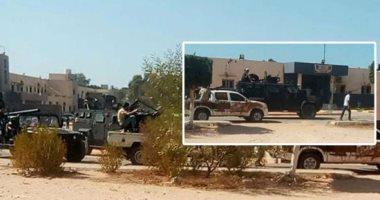 فيديو.. اندلاع النيران فى مقر السفارة الأمريكية بالعاصمة الليبية طرابلس