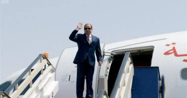 """الرئيس السيسى يغادر إلى الصين للمشاركة بمنتدى """"الحزام والطريق الثانى"""""""