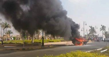 الحماية المدنية بالمنوفية تسيطر على حريق بمستشفى الباجور العام
