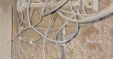 تهالك شبكة خطوط التليفون الأرضى بالمعصرة فى حلوان