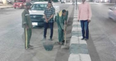 مساعد رئيس مدينة الأقصر للنظافة والتجميل تقود حملة لتنظيف منطقة العوامية