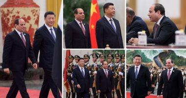 الرئيس السيسى ونظيره الصينى