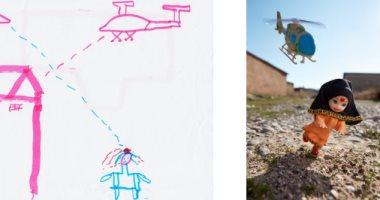"""الفن يهزم الآلة العسكرية.. """"ألعاب الحروب"""" تجربة مصور لعلاج أطفال العنف"""