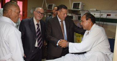 صور ...محافظ بنى سويف يتواصل مع رئيسة هيئة التأمين الصحى فى أولى جولاته