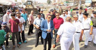 فيديو وصور.. مدير أمن الإسماعيلية يترأس أكبر حملة لإزالة الإشغالات والتعديات على الأسواق