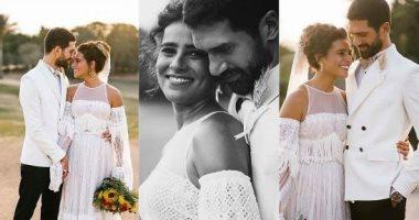 صور.. أحمد مجدى فى أول فوتوسيشن بحفل زفافه