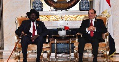 """الرئاسة: السيسى أكد لـ""""سلفا كير"""" مساندة مصر لتحقيق تسوية سلمية بجنوب السودان"""