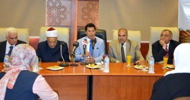 انطلاق قافلة وزارة الشباب والرياضة والأزهر الشريف المتكاملة إلى شمال سيناء