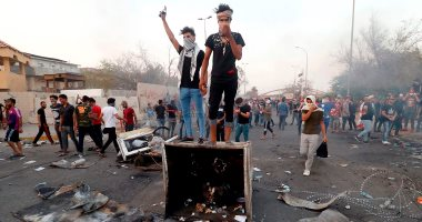 المئات يتظاهرون وسط كربلاء ويطالبون بإبعاد الحرب الإقليمية عن العراق