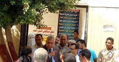 رئيس مدينة أشمون يجرى أولى جولاته التفقدية بعد تسلم العمل رسميا