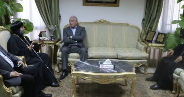 محافظ جنوب سيناء يستقبل أسقف سيناء الجنوبية