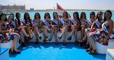 شاهد ملكات جمال العرب مصر فى جولة بحرية بالساحل الشمالى