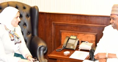 وزيرة الصحة تستقبل سفير نيجيريا لتعزيز سبل التعاون فى المجال الصحى