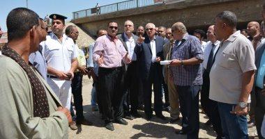محافظ الجيزة يتفقد توسعات محطة مياه جزيرة الذهب