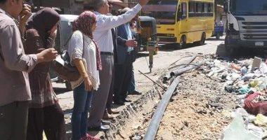 رئيس مدينة شبرا الخيمة يتفقد شارع أحمد عرابى