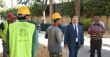 صور.. رئيس جامعة القاهرة يتفقد أعمال التطوير داخل الحرم قبل بداية الدراسة
