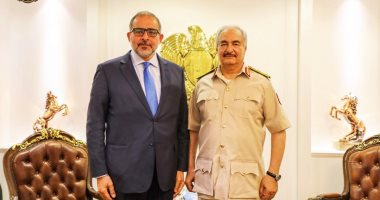 النايض يبحث مع حفتر سبل بناء الدولة الليبية ووقف الاقتتال بطرابلس