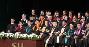 صور.. انطلاق احتفالية جامعة سيناء بخريجى العام الحالى بحضور وزير التعليم العالى