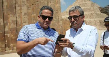 شاهد.. فيديو حريق المتحف الذى عرضه السفير البرازيلى على وزير الآثار