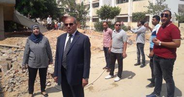 صور .. رئيس جامعة الأزهر يتابع استعدادات بدء الدراسة