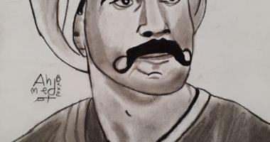 """أحمد يشارك """"صحافة المواطن"""" رسوماته ولوحاته الفنية بالقلم الرصاص"""