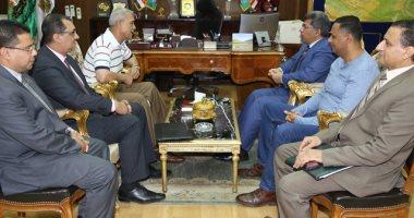 محافظ المنوفية يستقبل وفد مركز المعلومات بمجلس الوزراء