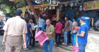 حملات لإزالة التعديات والإشغالات وإعادة الانضباط بأحياء مناطق القاهرة الأربعة
