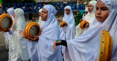 صور.. استعراض لطلاب اندونيسيا احتفالا بالعام الهجرى الجديد